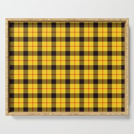 Yellow Plaid Tartan Serving Tray