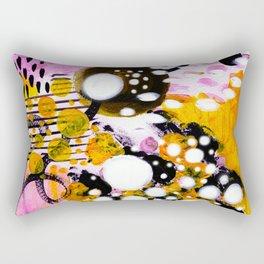 Pink Galaxy Abstract Acrylic Painting II Rectangular Pillow