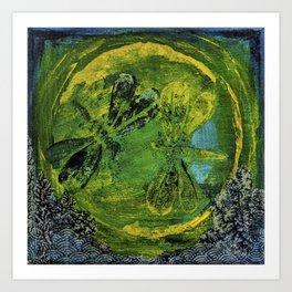 Dragonfly Dance #5 Art Print