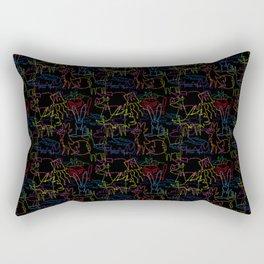 Animal Autograph Doodles (Blackboard) Rectangular Pillow