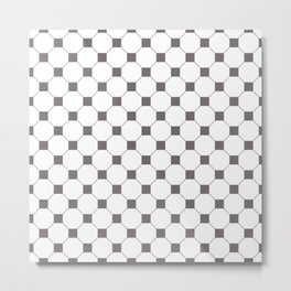 Grey Octagon Seamless Pattern  Metal Print