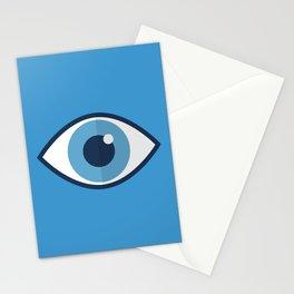 Spooky eyes (blue pattern) Stationery Cards