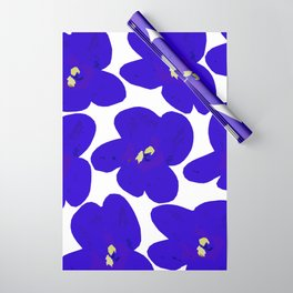 Blue Retro Flowers #decor #society6 #buyart Wrapping Paper