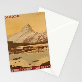 Affiche Schreckhorn Oberland Stationery Cards