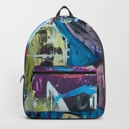 Apparitions, Ghosts and Grottos, abstract piece. Backpack