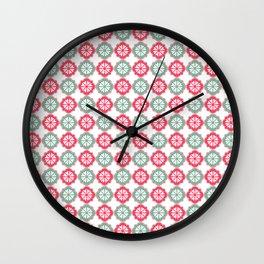 Colorful Morrocan Quatrefoil Pattern Wall Clock