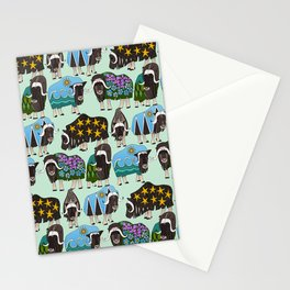 Alaskan musk ox mint Stationery Cards