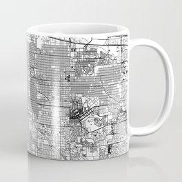 Denver White Map Coffee Mug