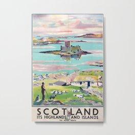 Scotland Vintage Travel Poster Metal Print