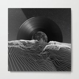 Spin the black circle Metal Print
