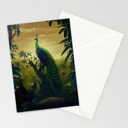 Green Peafowl (pavo muticus) Stationery Cards