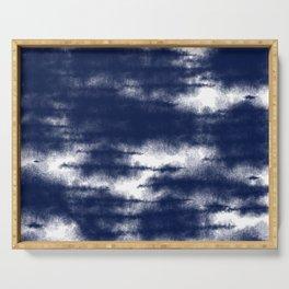 Blue Shibori Dye  Serving Tray