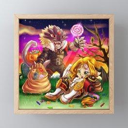 Beelzemon and Lucemon - Sweet Little Sins Framed Mini Art Print