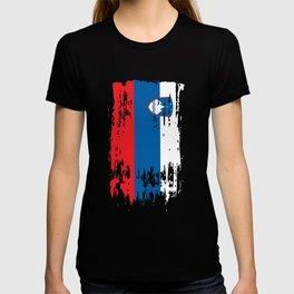 SI SVN Slovenia Flag T-shirt