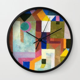 Paul Klee - Digital Remastered Edition - Colorful Architecture Wall Clock