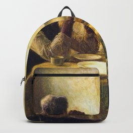 African American Masterpiece 'The Thankful Poor' by Henry Ossawa Tanner Backpack