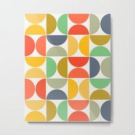 Modern Geometric Seamless Pattern Mid Century XIII Metal Print