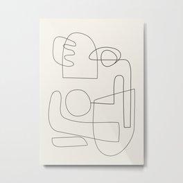 Minimal Abstract Shapes 02 Metal Print