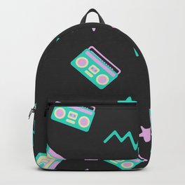 Retro radio pattern Backpack