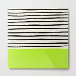 Electric Pineapple x Stripes Metal Print