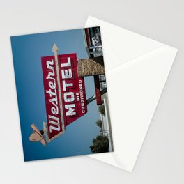 Western Motel on Route 66 Stationery Cards