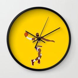 Lebron Dunk Laker James - Basketball Illustration Wall Clock