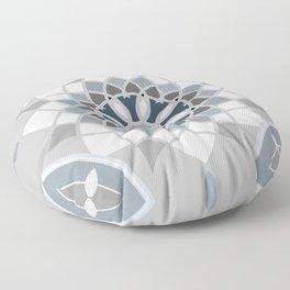Blue & Gray Moroccan Tile III Floor Pillow