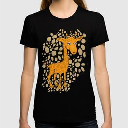 Giraffe - Sepia Brown T-shirt