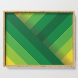 Stripes (green/yellow) Serving Tray