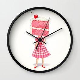 Cake Head Pin-Up - Cherry Wall Clock