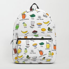 Smoothie pattern Backpack
