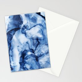 Blue Watercolor/Marble Stationery Cards