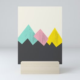 Pastel Mountains III Mini Art Print