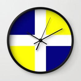 Flag of old louisiana Wall Clock