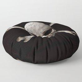Jolly Roger - Black and Bone Floor Pillow