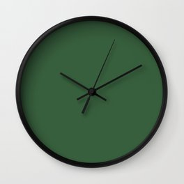 Simply Solid - Heather Green Wall Clock