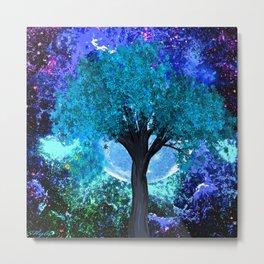 TREE MOON NEBULA DREAM Metal Print