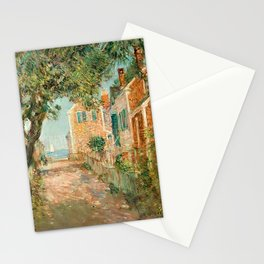 Classical Masterpiece 'Provincetown, Cape Cod' by Frederick Childe Hassam Stationery Cards