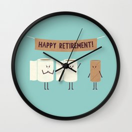 Over This Crap Wall Clock