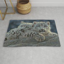 Snow Leopard Cubs Rug