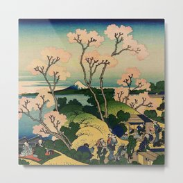 Hokusai -36 views of the Fuji  39 Goten yama hill Metal Print