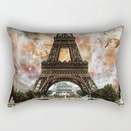 The Eiffel Tower - Paris France Art By Sharon Cummings Rectangular Pillow