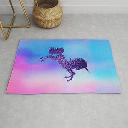 Purple Sparkly Unicorn Rug