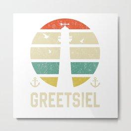 Greetsiel Beacon Vacation TShirt North Sea Shirt Nordsee Gift Idea  Metal Print