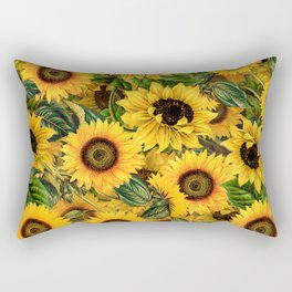 Vintage & Shabby Chic - Noon Sunflowers Garden Rectangular Pillow