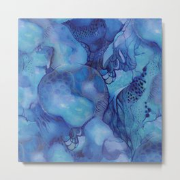 Blue happiness or when you feel blue but not sad Metal Print