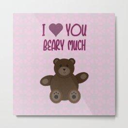Beary Love Metal Print