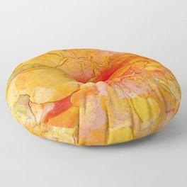Golden Marigold Watercolor Floor Pillow