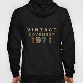 49 Year Old Birthday Gift Vintage 1971 November Hoody