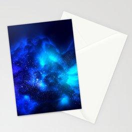 Abstract Nebula #7: Blue bang Stationery Cards